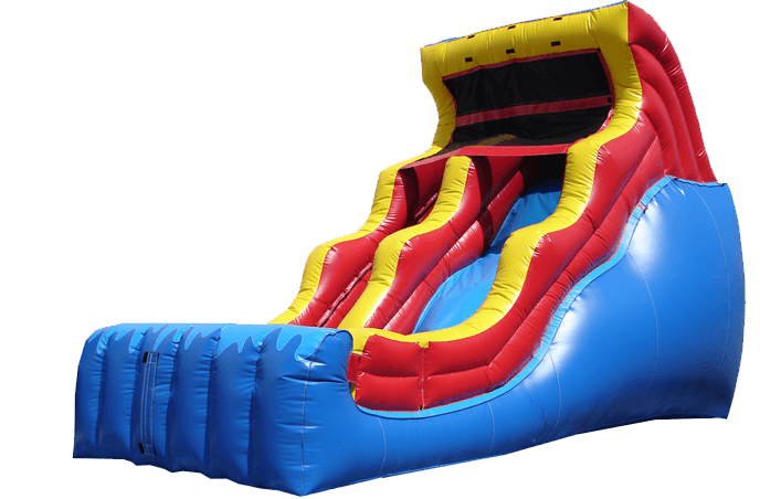 18 foot double drop wet or dry inflatable slide