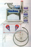 sno cone machine and cart