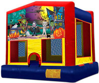 Happy Haunting bounce house