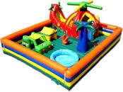 Toddler helicopter themed inflatable game