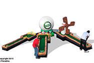 3 Hole Mini Golf Carnival Inflatable Game