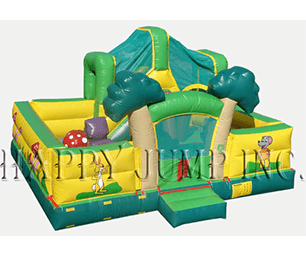 Toddler jungle town inflatable game