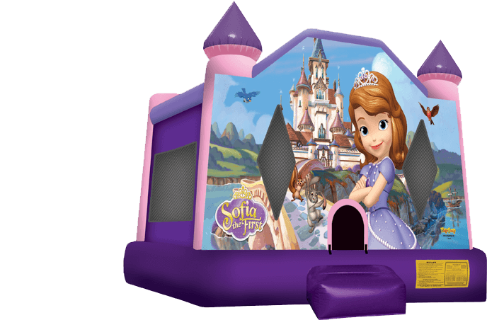 sofia the first bounce house, inflatable jump