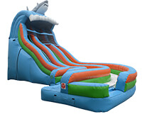 Curved water slide inflatable party rental