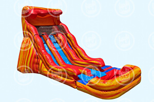 20' Flamin Wave Dual Slide water ride