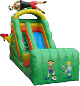 inflatable sports wet and dry slide game