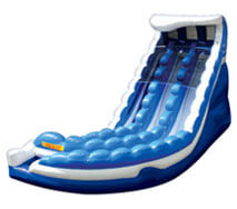 curve action inflatable water ride slide