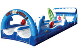 surf the wave double sided inflatable water ride game